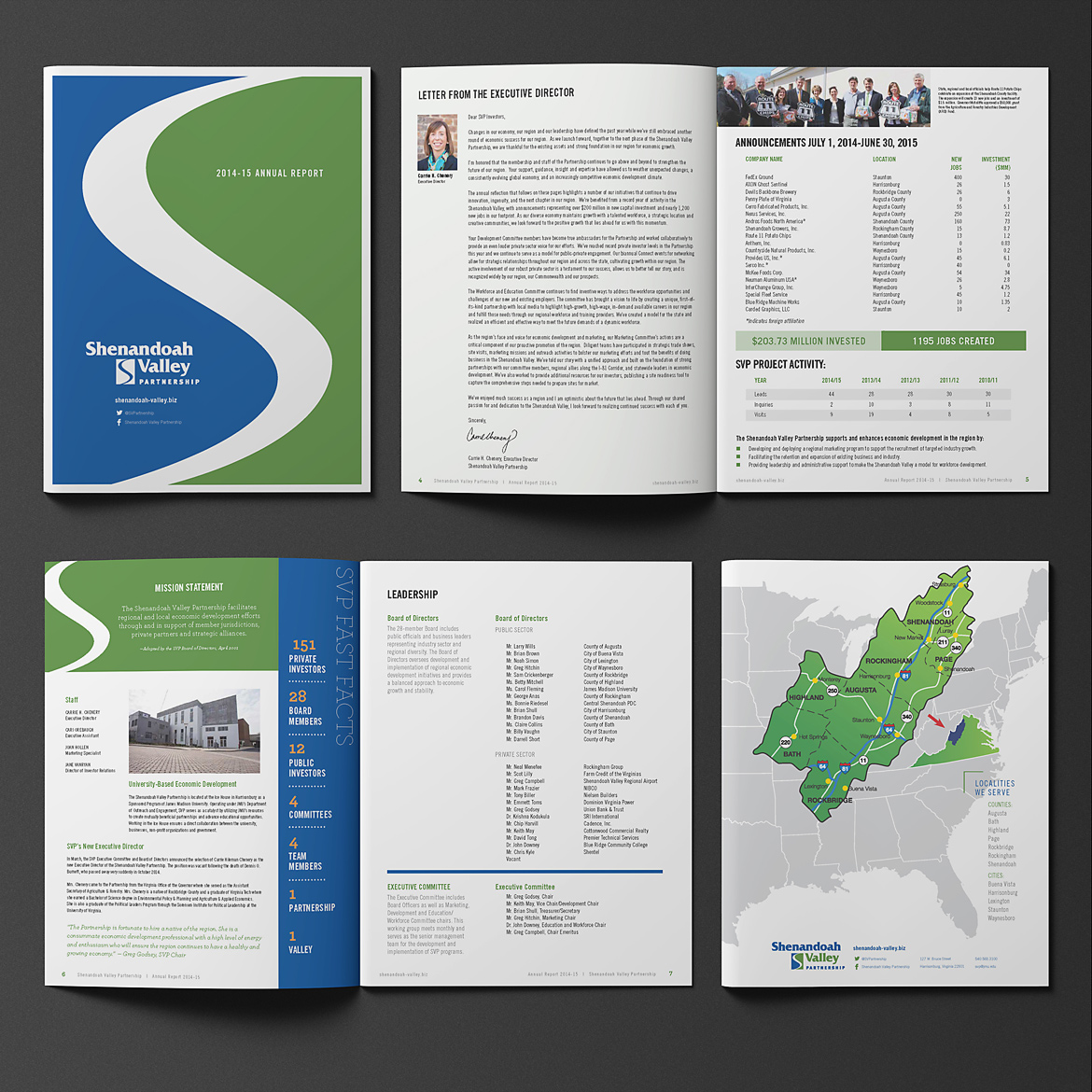 Shenandoah Valley Partnership: Annual Report, Signage, & Collateral-4