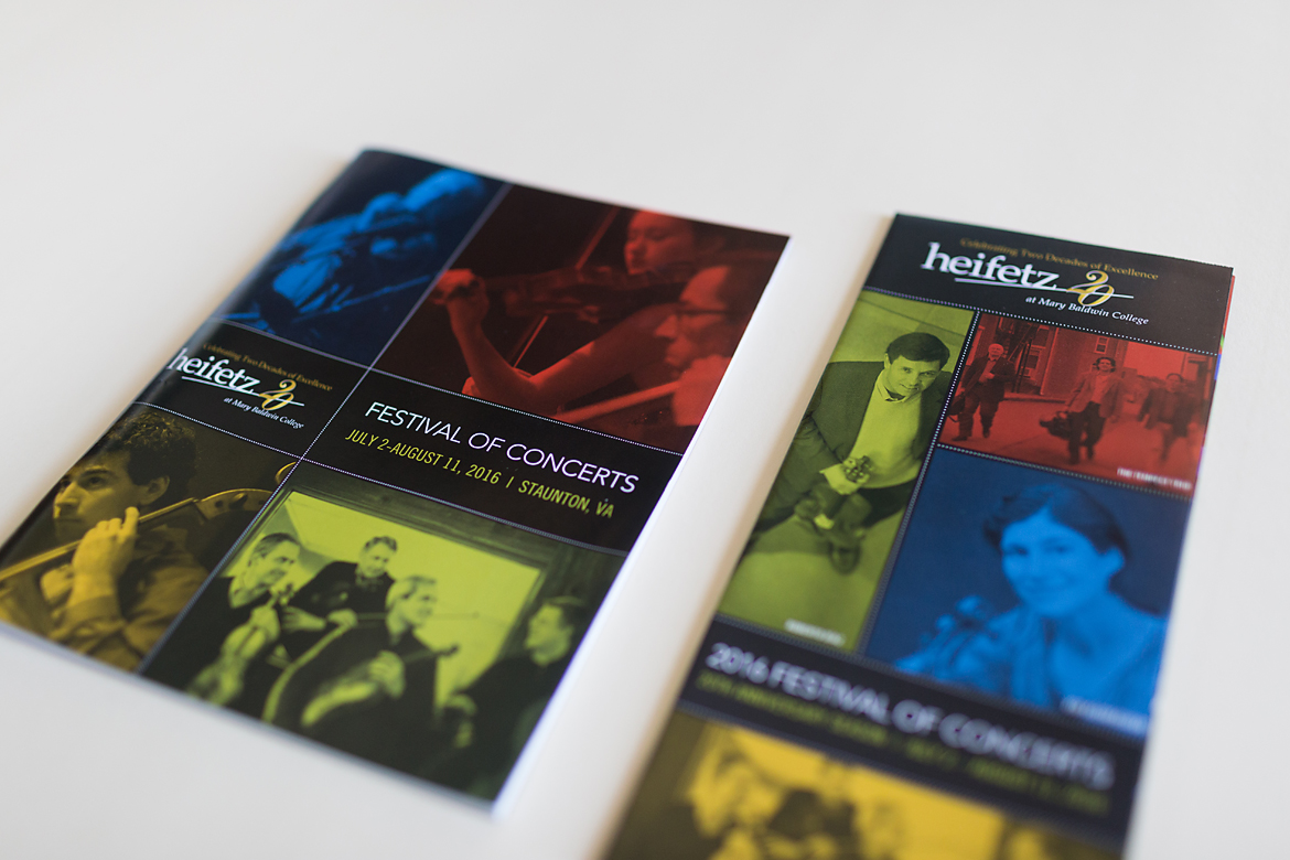Heifetz International Music Institute: Festival of Concerts Program Book, Poster & Collateral-2