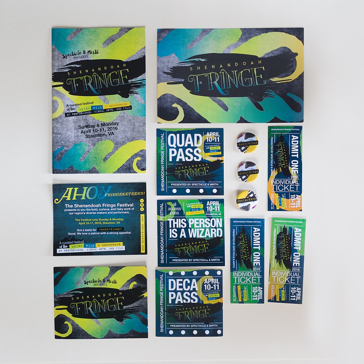 Shenandoah Fringe Festival: Event Identity & Collateral-3