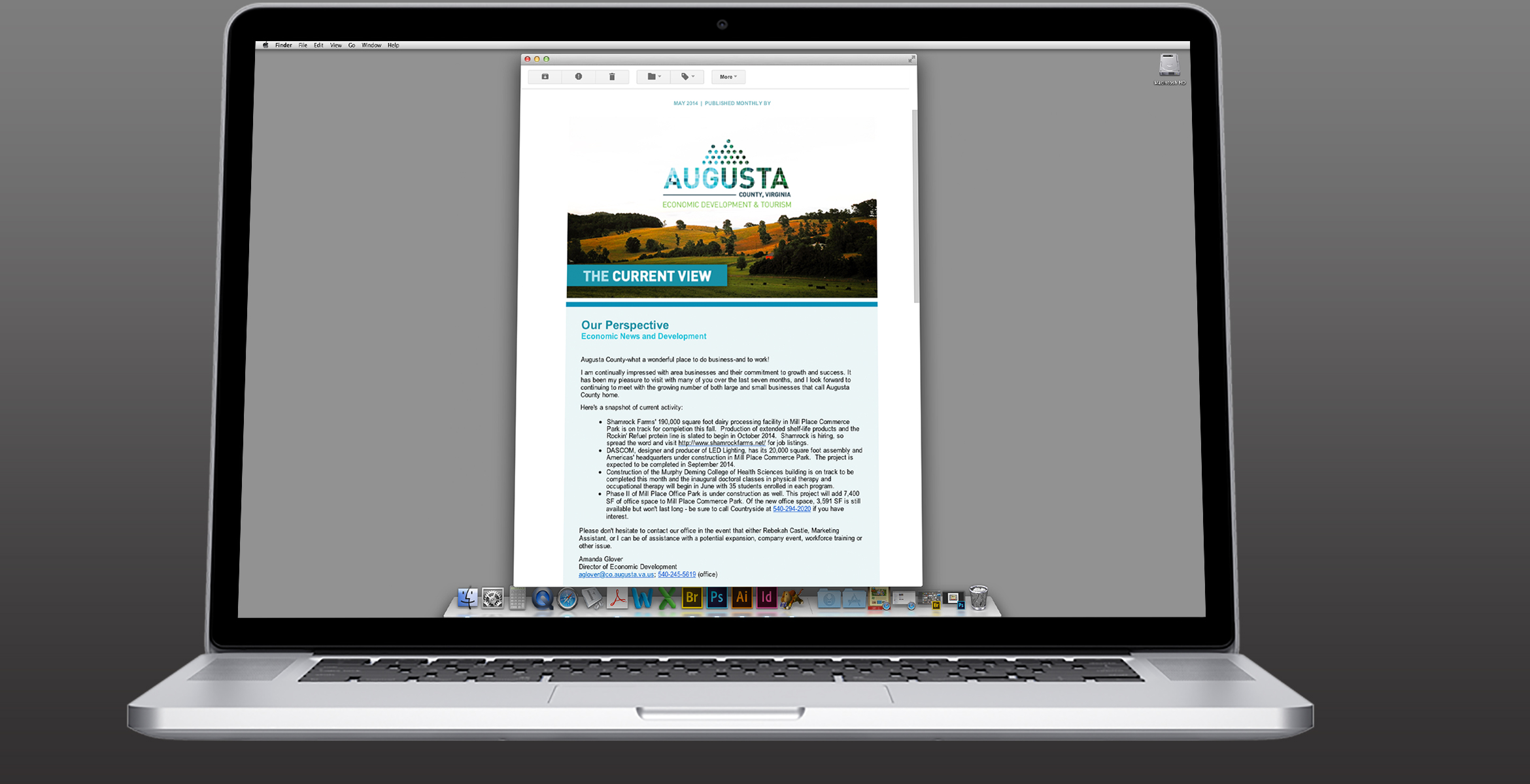 Augusta County Economic Development and Tourism Logo and Collateral-1